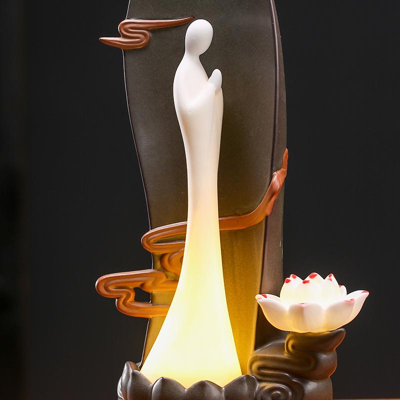 创意茶宠倒流香 家用精品家居小和尚禅意茶盘茶道装饰茶艺小摆件