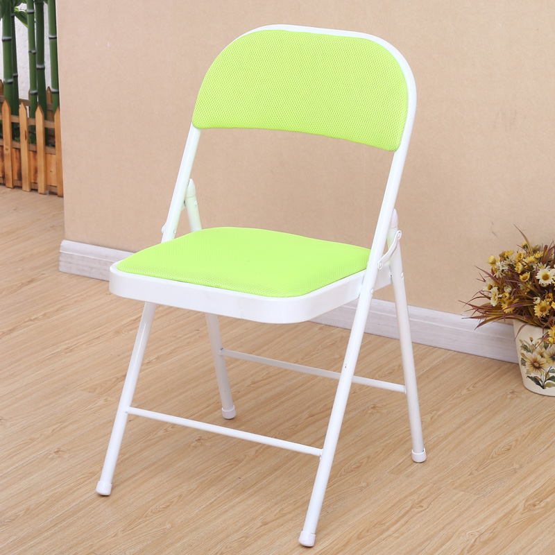 折叠椅靠背凳子电脑椅子办公室家用简易麻将餐椅高成人便携凳宿舍