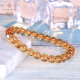 Spar Ling Brazilian Citrine Bracelet Natural Citrine Bracelet Fashion Gift for Men and Women Couples