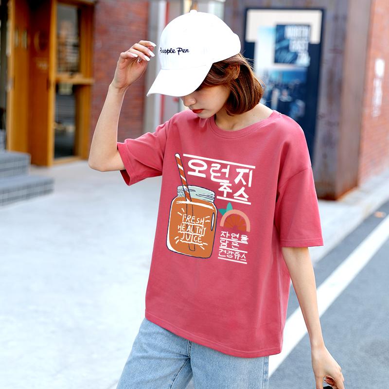 潮女士 ins 年夏季新款宽松韩版半袖上衣网红超火 2020 恤女 t 纯棉短袖