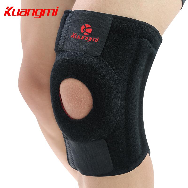 狂迷運動戶外護膝彈簧升級款登山戶外騎行籃足羽毛球透氣跑步護具