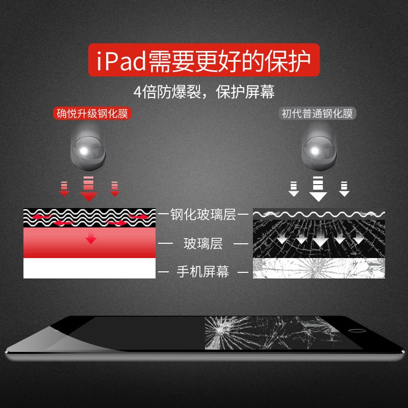 iPadAir2钢化膜新款ipad2017苹果平板pro9.7/12.9英寸护眼抗蓝光mini2/3/4高清透明ipad5电脑防爆指纹保护膜6