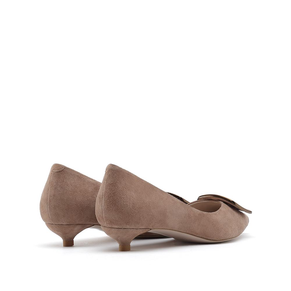 Y3536AQ9 春季新款时尚绒面低跟细跟尖头舒适女浅口单鞋 2019 思加图