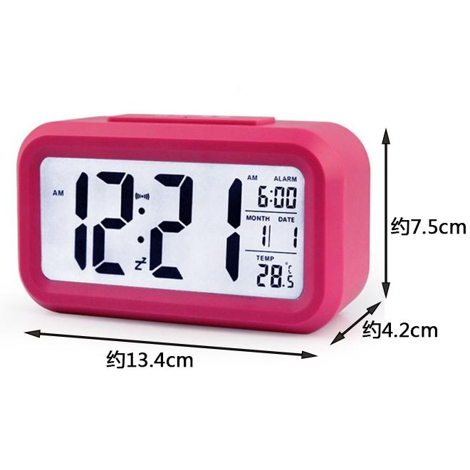 汽车车载摆件时钟电子钟温度计时间表LED数显高夜光车内精度车用