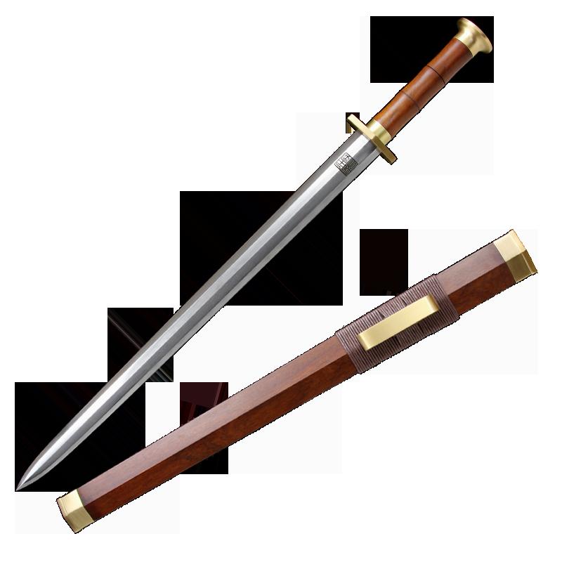 定光剑龙泉千字号宝剑八面汉剑刀剑防身一体剑花纹钢冷兵器未开刃