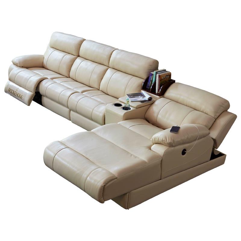 电动沙发组合现代简约客厅整装智能多功能皮沙发真皮沙发头层牛皮