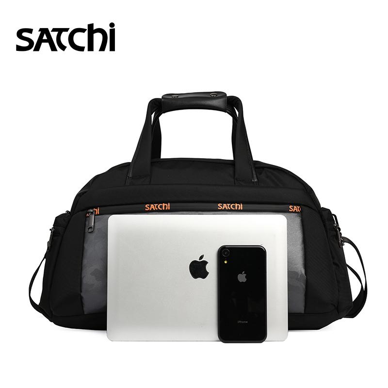 沙驰男包休闲时尚手提旅游包欧美潮流迷彩大容量尼龙单肩包旅行袋