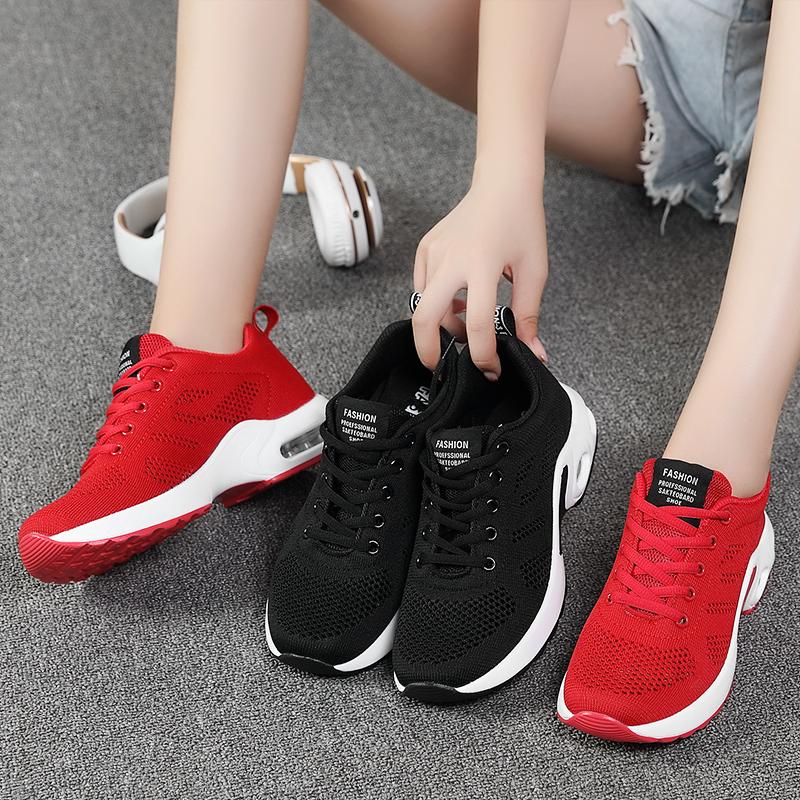 2019秋季新款女鞋韩版运动鞋女网面透气跑步鞋网鞋气垫休闲鞋子女