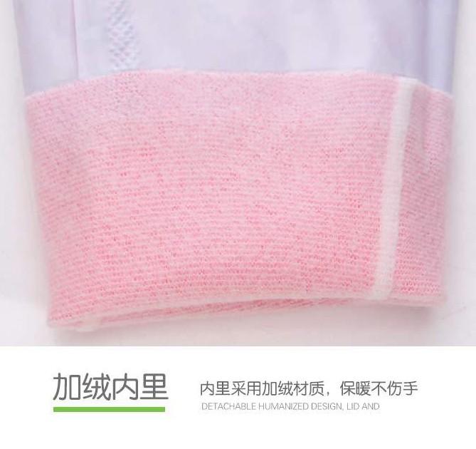 洗碗洗衣服手套女加绒加厚冬天长款加绒加长冬季耐用防水厨房家务主图