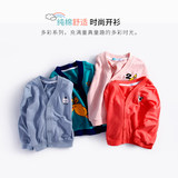 Baby Spring and Autumn New Boys and Girls V-neck Cardigan Children's Casual Cartoon Jacket Jacket Korean Wave