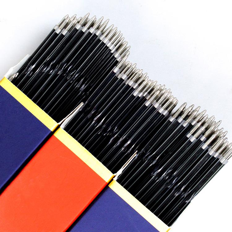 100支装办公用品按动圆珠笔芯0.7蓝色红色黑色笔芯学生文具油笔心
