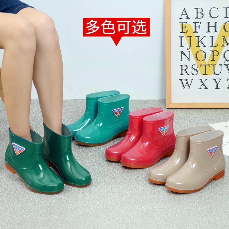 雨鞋女短筒防滑男雨靴中筒防水套鞋保暖加绒水鞋低帮男女雨鞋胶鞋