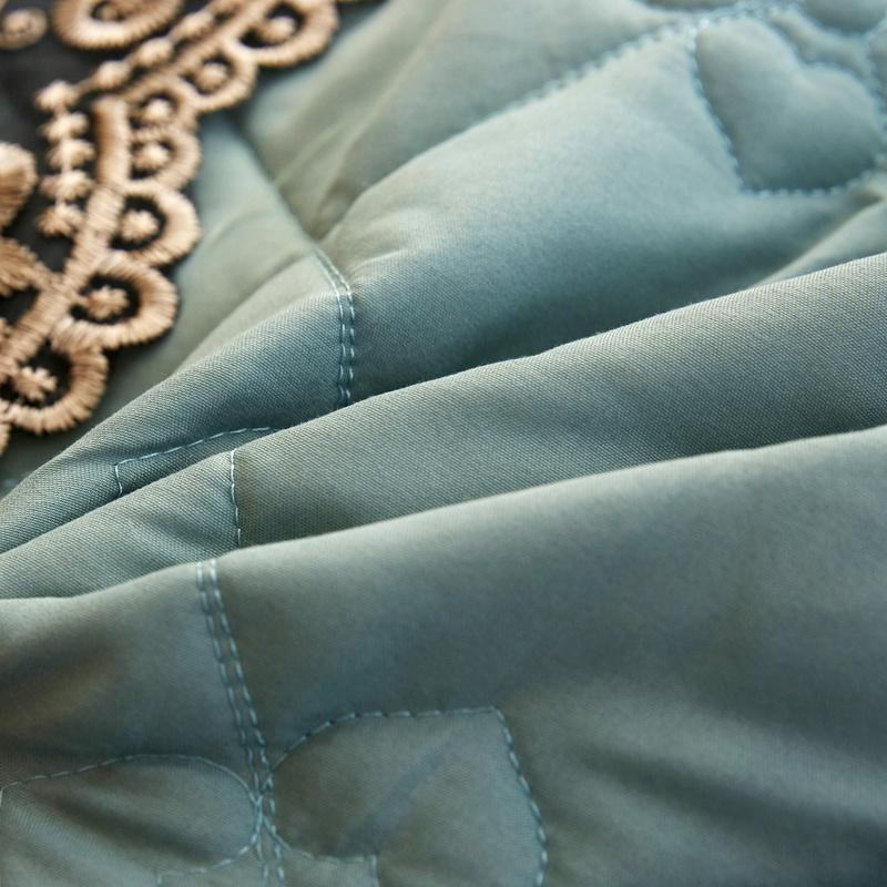 2m 床罩加厚防滑床套防尘罩 1.8m 欧式网红款磨毛纯色夹棉床裙式单件