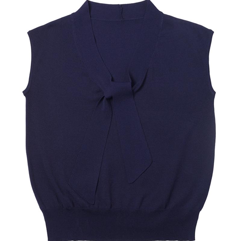 宽松夏季新款韩版V领上衣冰丝短袖T恤薄款秋季搭配阔腿裤针织衫女