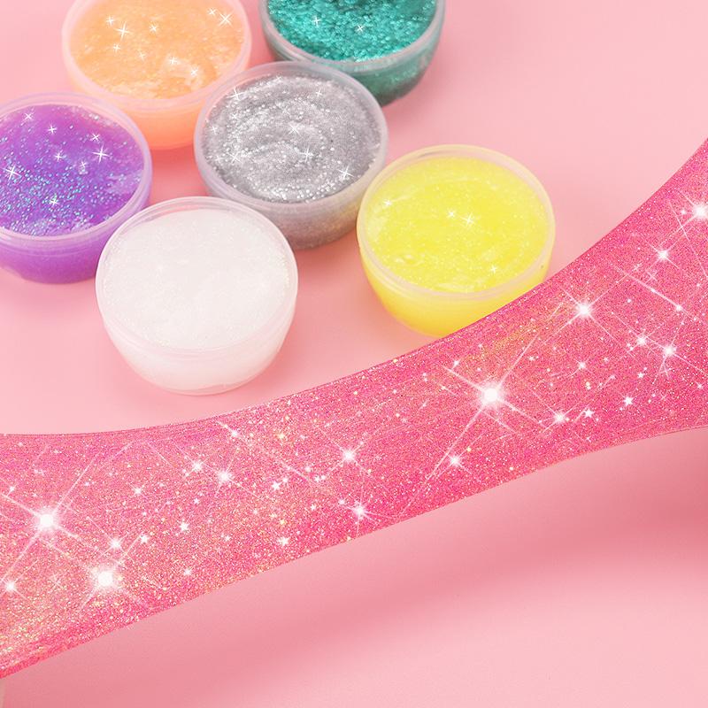 儿童彩色水晶泥起泡胶手工粘土安全无毒透明史莱姆橡皮泥彩泥玩具