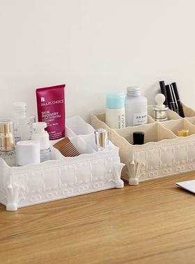 新品复古欧式粉色收纳盒桌面化妆品置物架 美甲美容店摆饰笔筒