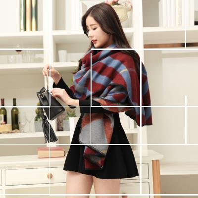 Cashmere cape autumn and winter scarves shawl dual national wind female thick warm coat