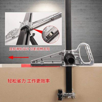 Manual gypsum board cutting artifact, hand-push high-precision portable cutting special tool, cutting board device, cutting roller type
