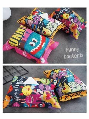 载餐巾纸布用纸套盒子卡通厨房袋可爱抽纸巾怪兽艺厕所汽车店家包 mini 3