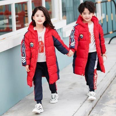 幼儿园园服季棉衣中长款儿童班服棉服中小学生校服加厚棉袄外套