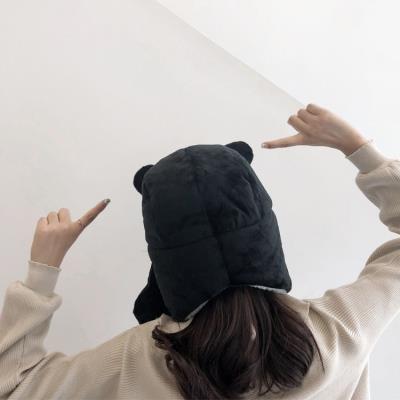 电动帽子女冬季可爱头套帽子拍照ins 搞怪挡风保暖秋天女生