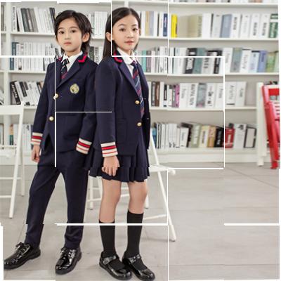 冬季校服内胆小学生班服男女童英伦西装三件幼儿园西装入园照园。