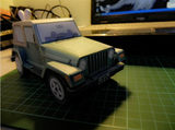 Special offer jeep wrangler off-road car paper model 3D car paper model toy student DIY hand work
