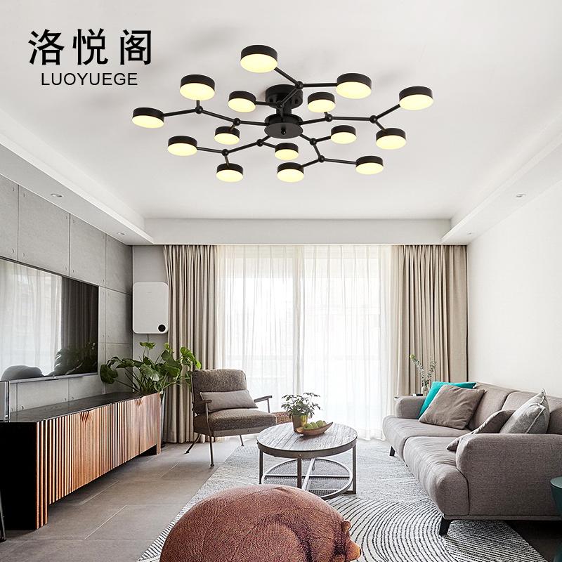 年新款大厅灯 2019 北欧灯具创意个姓现代简约大气 led 客厅灯吸顶灯