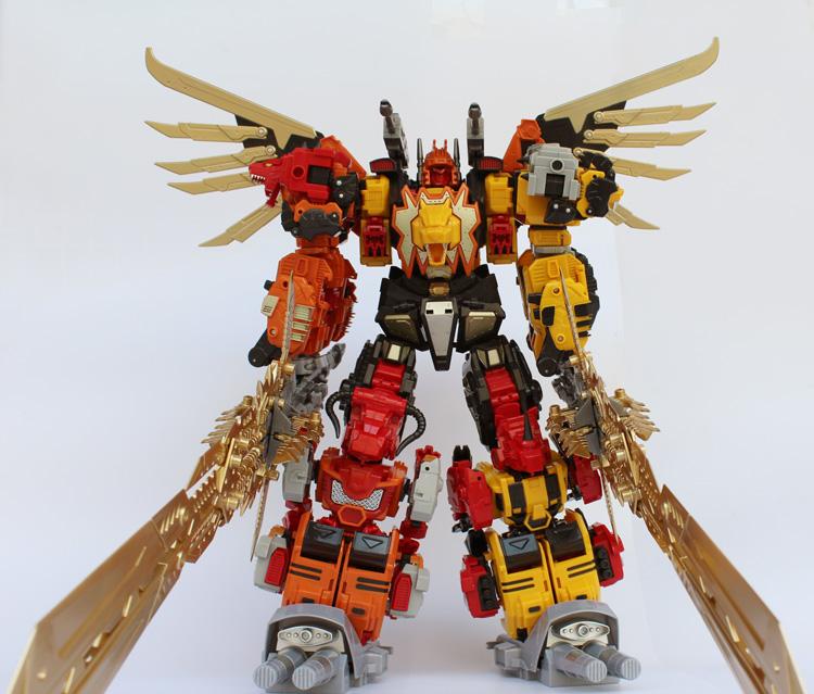 暗黑金宝版冲云霄大力神混天豹A组合变形玩具金刚5机器人模型