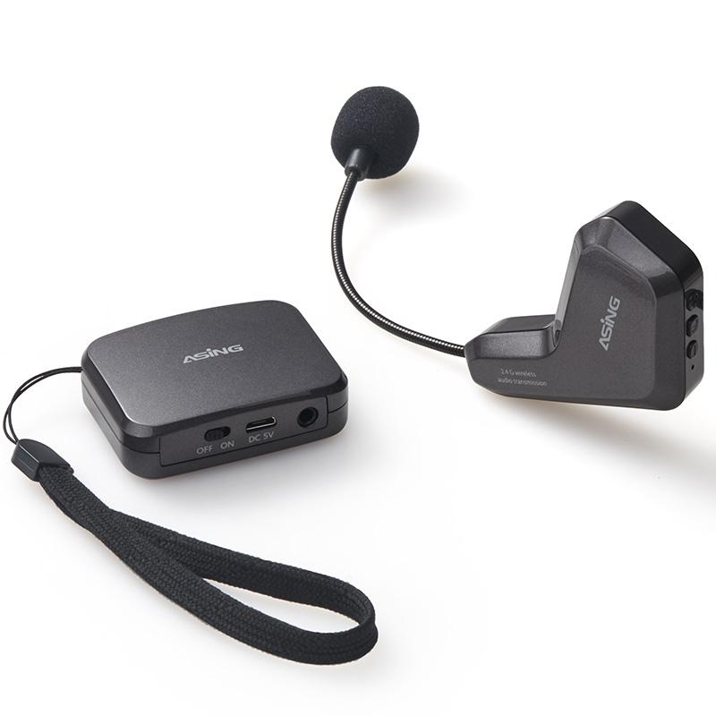 歌耳挂式主持无线麦克风 K 无线麦克风头戴式演出小蜜蜂扩音器话筒耳麦教师头戴麦手机 2.4G wm01 大行 ASiNG