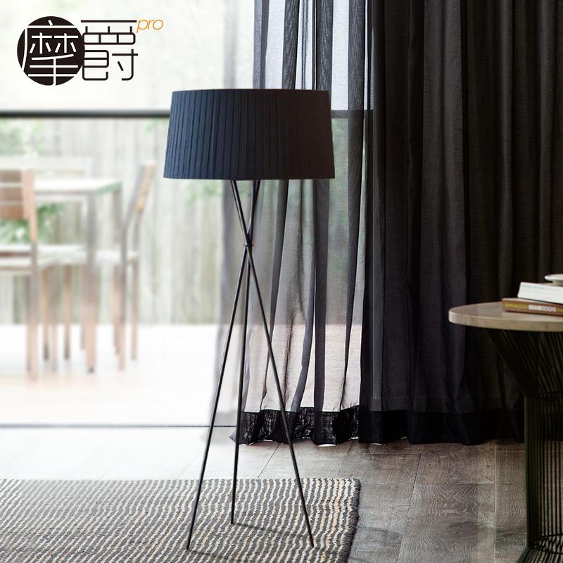 北欧立式艺术床头卧室客厅现代简约落地灯创意布艺沙发三脚落地灯