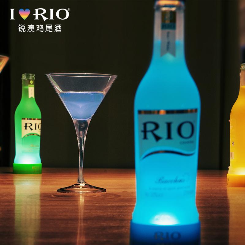 發光瓶整箱正品 6 275ml 度經典系列 3.8 銳澳預調雞尾酒套裝洋酒 RIO