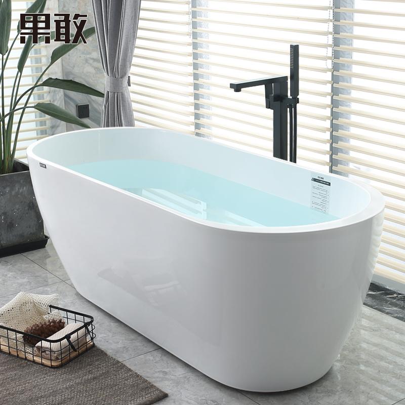 果敢网红少女心浴缸小户型浴盆家用成人北欧浴池1.15-1.7浴缸058