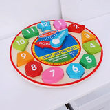 Shape Sorting American children wooden puzzle digital clock graphics clock learning aids 3 years old