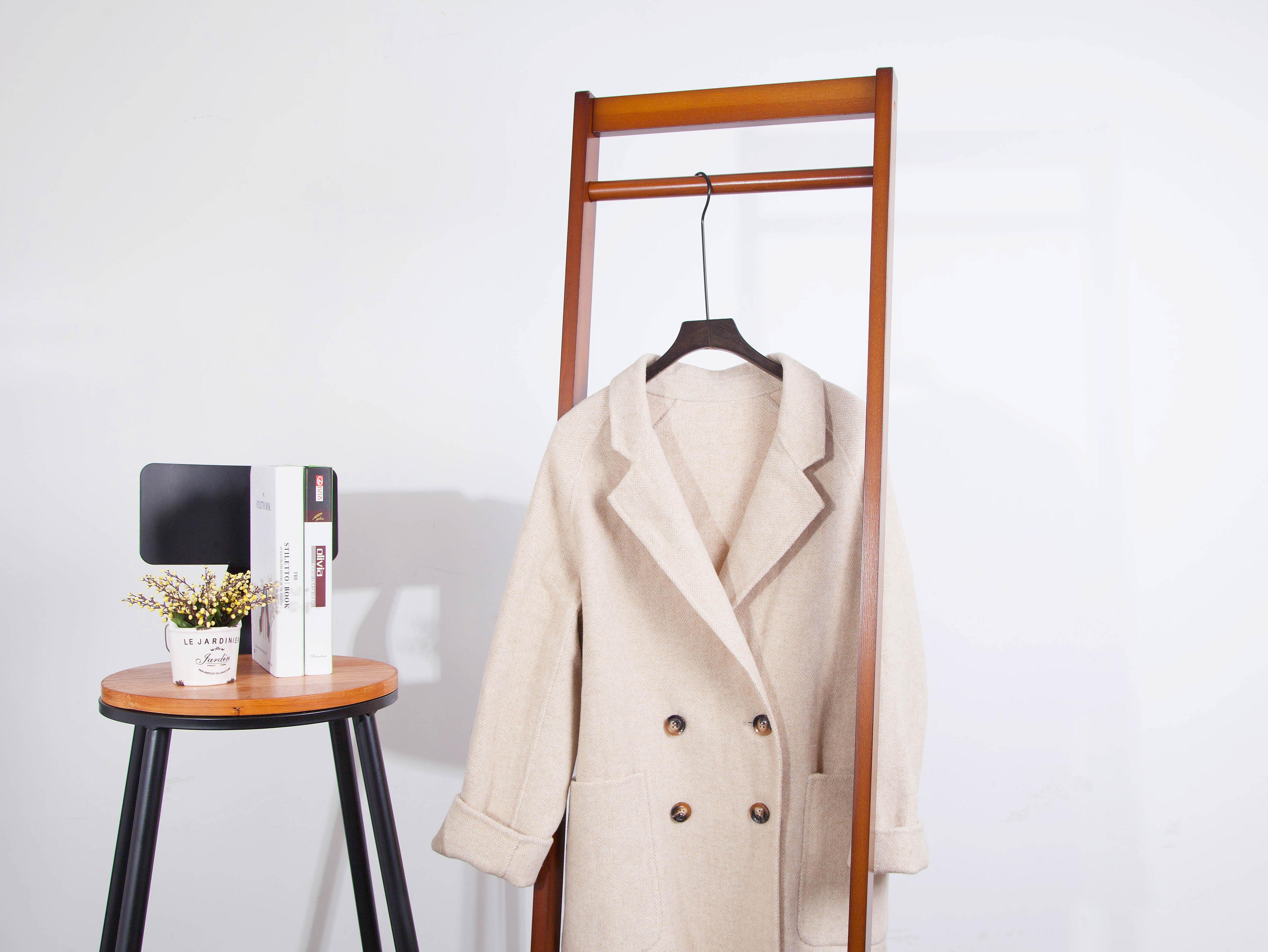 双面羊绒呢大衣女高端定制100%纯羊毛2018新款秋冬款外套赫本风