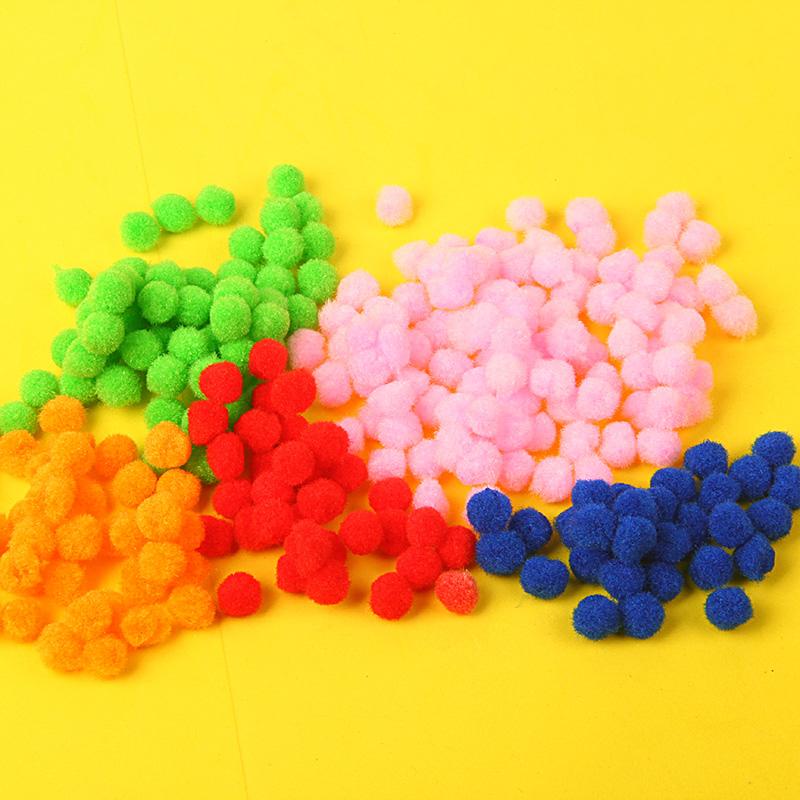 10mm/1cmDIY幼教美劳益智辅料 毛绒球 幼儿园毛毛球手工制作材料