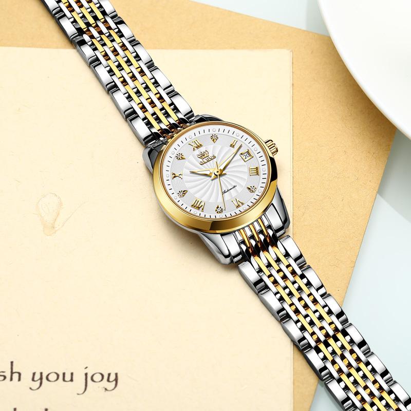 2020 年新款式简约气质时尚奢华 瑞士正品名牌女士手表机械表 风 ins