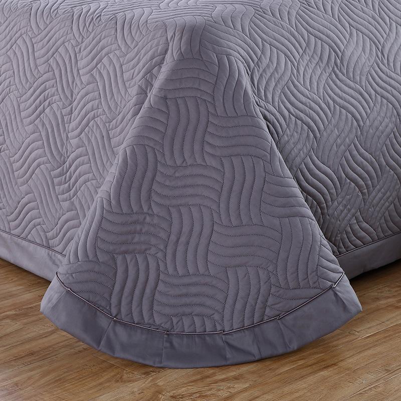欧式纯棉床盖三件套纯色加厚夹棉床单全棉绗缝床罩单件夏凉薄被子