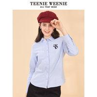 TeenieWeenie小熊秋季款女装字母衬衫韩范学生设计感小众韩版衬衣 (¥274)
