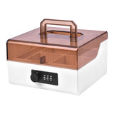 Jinlongxing seal box accounting seal storage box password lock portable multi-function 6 grid combination storage seal box office supplies