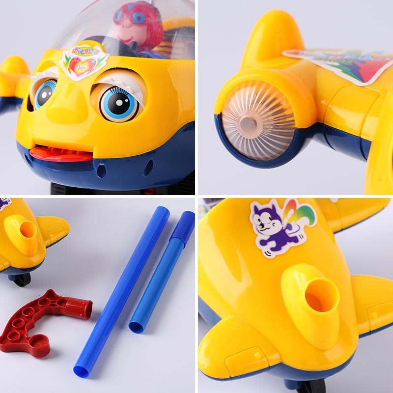 宝宝单杆学步手推车儿童推推乐龙虾铃铛会吐舌头的小飞机玩具