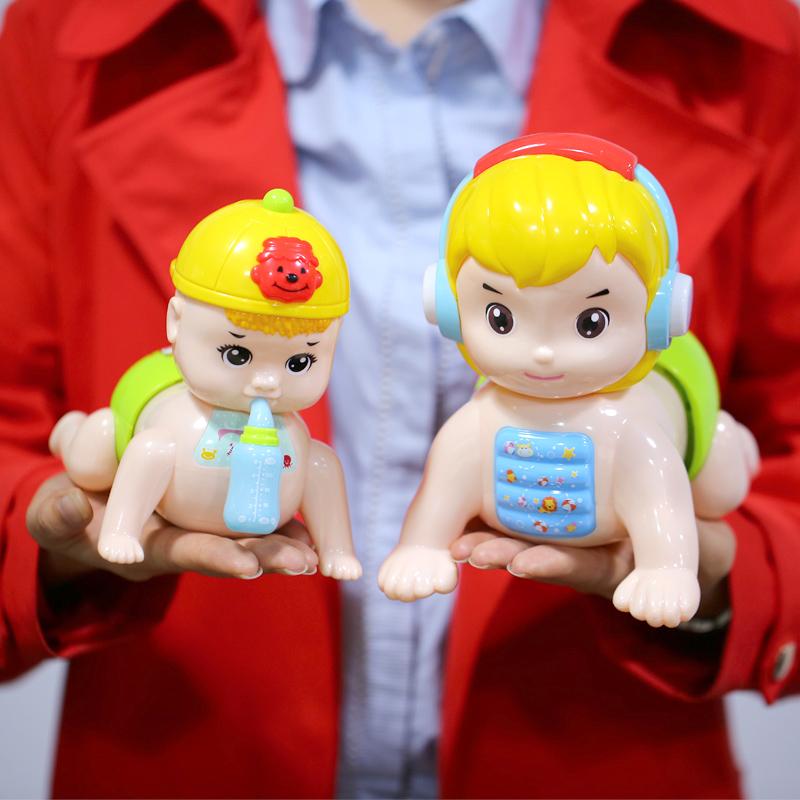 宝宝学爬行玩具幼儿益智会叫爸爸妈妈婴儿宝宝音乐电动爬娃娃