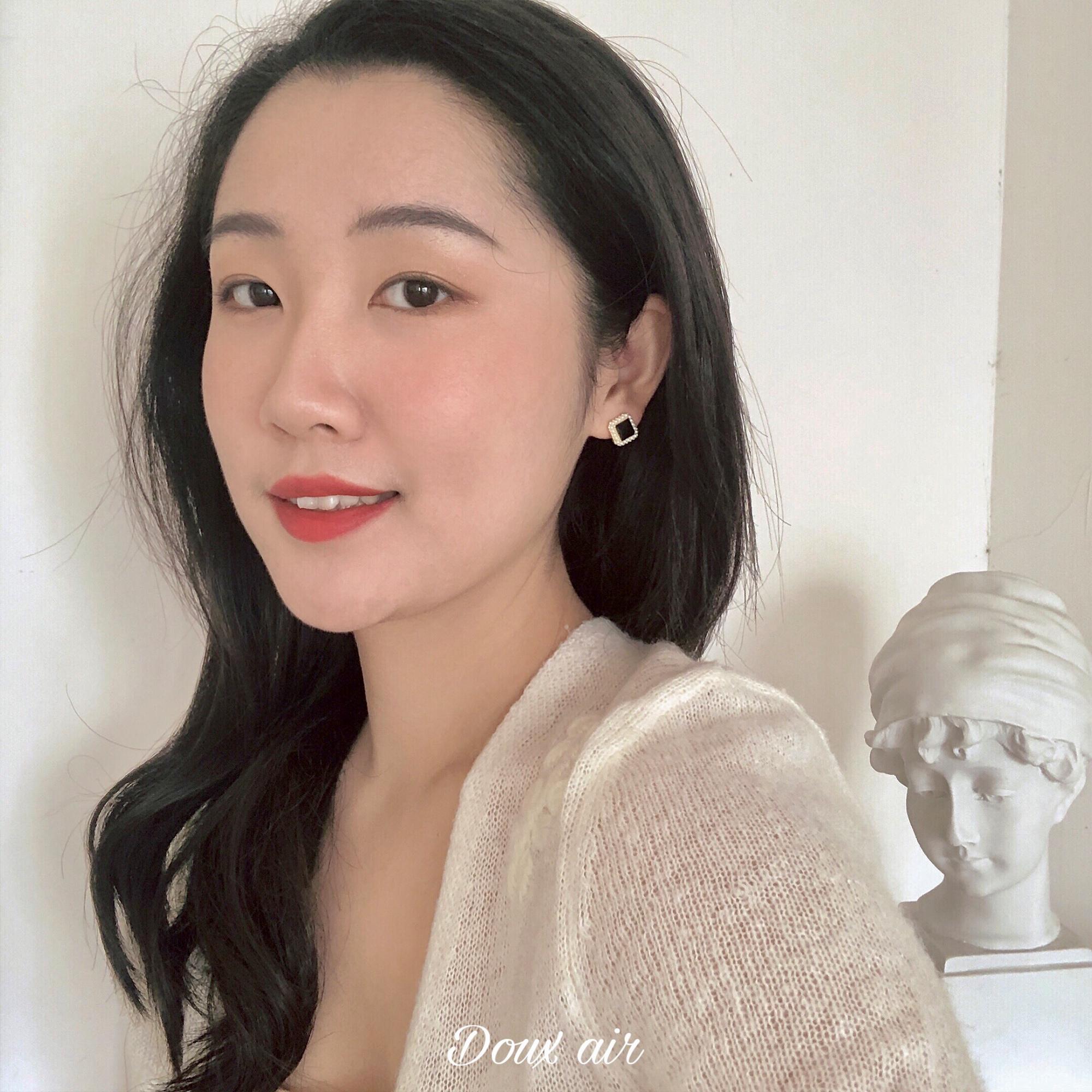 新 2019 法国女孩复古高级小香风耳环女法式纯银耳饰 绝甜空气
