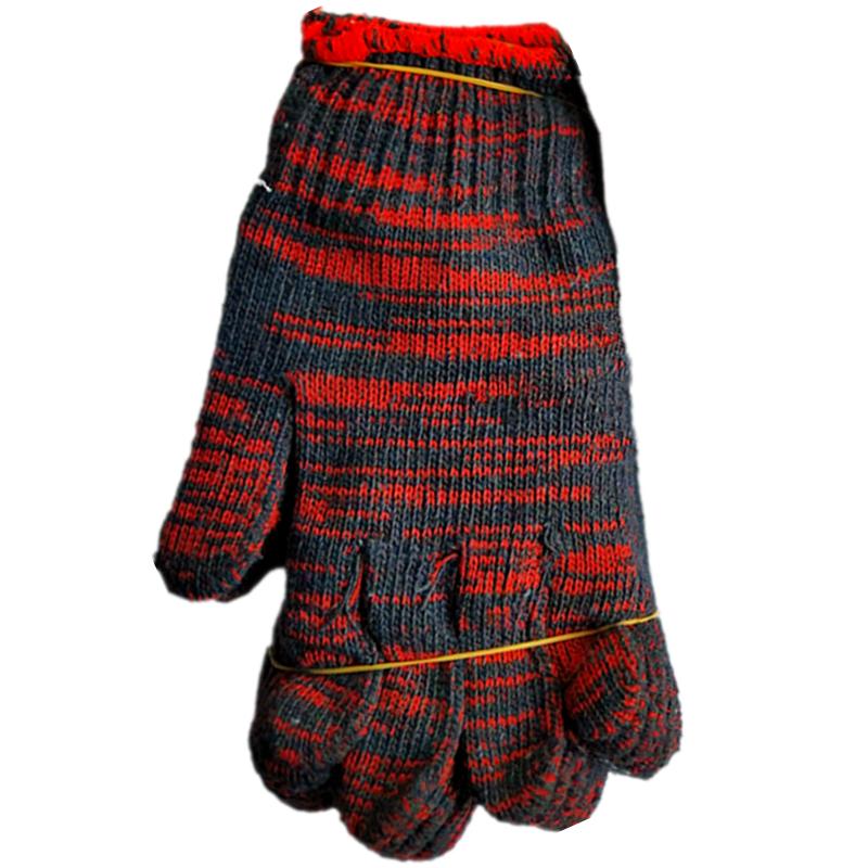 600双白手套劳动手套劳保手套纯棉纱手套耐磨手套工作线手套 加厚