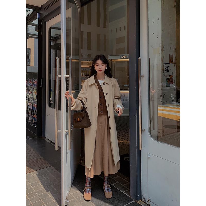 范智乔 风衣女中长款韩版宽松过膝2020新款春秋季气质小个子外套主图