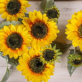 Single Floor sunflower artificial flowers artificial flowers placed in the living room bedroom home decorative floral ornaments simulation flowers