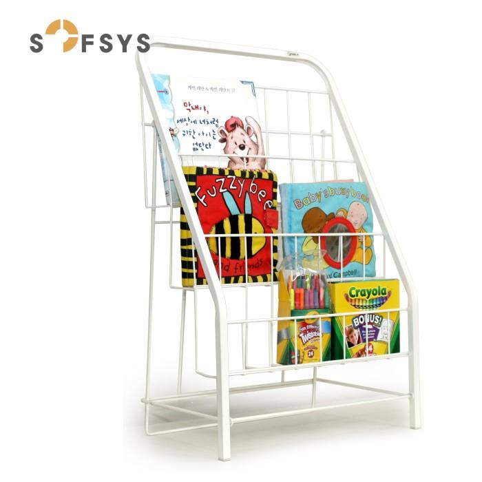 SOFSYS儿童书架绘本架书报架落地杂志架展示架铁艺小书架宝宝书架