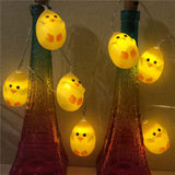 Chick egg LED lamp strings flashing lights red network bedroom room bedroom lights Twinkle light cartoon