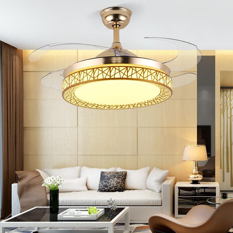 电风扇吊灯 LED 餐厅客厅隐形吊扇灯简约家用卧室带 锦丽隐形风扇灯