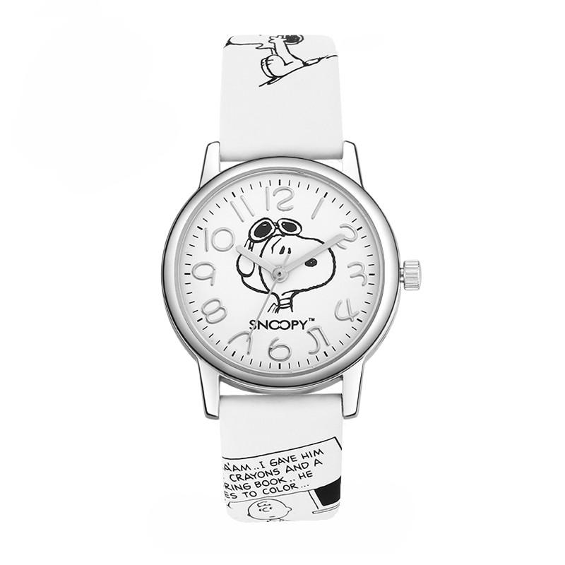防水石英表男童小学生皮带手表 正品史努比涂鸦手表儿童手表男孩